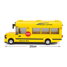 SuSenGo Assembled Building Blocks Mini School Bus Toy Children Educational Figures toys Compatible with toy