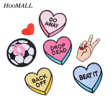 Hoomall 7PCs Mixed Iron On Patches DIY Garment Accessories Sew Applique Cute Patch Fabric Badge Cartoon Motif Clothes Ornaments