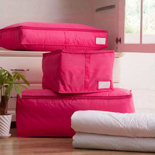 Blue/Red Home Storage Bag Clothes Quilt Bedding Duvet Zipped Handles Laundry Polyester Pillows Storage Bag S M L