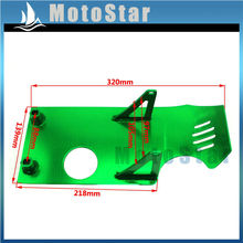 Green Aluminum Engine Skid Plate For Chinese 50cc 70cc 90cc 110cc 125cc 140cc Pit Dirt Bike BSE SSR YCF YX Lifan Taotao