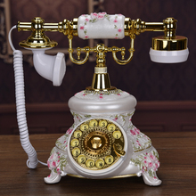 Fashion antique vintage telephone swivel plate corded telephone Retro ringing tones(China)