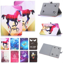 Histers Universal Cover for Samsung Galaxy Tab 2 10.1 P5100 P5110 P7500 P7510 10.1 inch Tablet Printed PU Leather Stand Case(China)