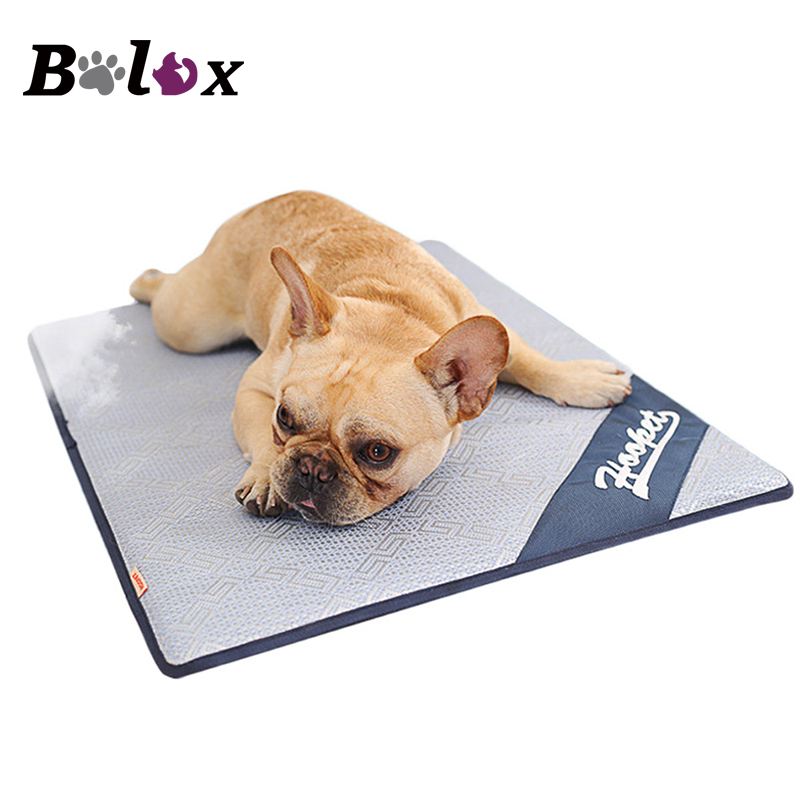 Dog Mat Pet Summer Cool Cushion Mattress Cooling Ice Silk Mat for Teddy Small Medium Large-sized Dog Bed Nest Pad Pet House