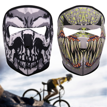 Hot Sale Sunscreen Cycling Mask 3D Printed Pattern Bicycle Motorcycle Riding Mask Windproof Full Face Mask Cycling Accessories