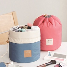 Urijk High Quality Makeup Organizer Barrel Shaped Travel Cosmetic Bag Women Makeup Bag Girls Wash Bags High Capacity Storage Bag(China)