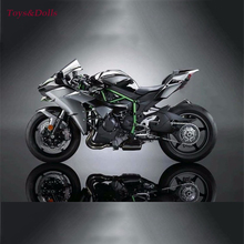 1/18 Maisto 2016 Kawasaki H2R Black Motorcylce Diecast Model w/Removable Base Kids Gift Collection Gifts