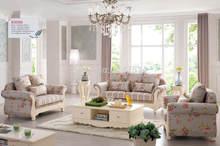HS 8308 Moderne Wohnzimmer Wohnmöbel Schnitts Aus Massivem Holz Stoff 1 + 2  + 3 Sofa Setzt Europäischen Stil 1 + 2 + 3 Sofa