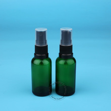 5pcs/Lot Promotion 30ml Glass Spray Bottle with Black Atomizer Cap Empty Green Parfum Women Cosmetic Container  Perfume Pot