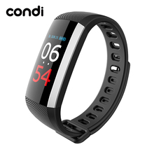 Genuine Condi Smartband R19 with Colorful Screen Wireless USB Charge IP67 Waterproof support Heart Rate Fitness Tracker Bracelet(China)