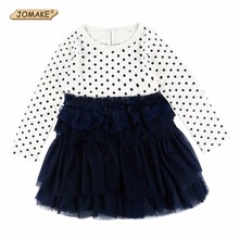 Buy Girls Dresses Spring 2017 Dot Long Sleeve Princess Dress Girl Tutu Dress Baby Clothing Children Costume Kids Clothes robe fille for $7.16 in AliExpress store