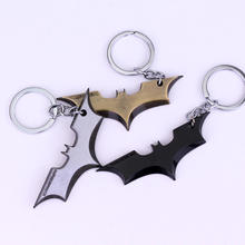 Batman Movie Keychain Super Hero Superhero Key Chain & Key Ring Holder Keyring Gift Men Women Souvenirs 3 color design(China)