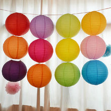 16 inch Round Chinese Paper Lantern Birthday Paper Lanterns for Wedding Party Decoration Gift Craft DIY Wholesale Retail(China)