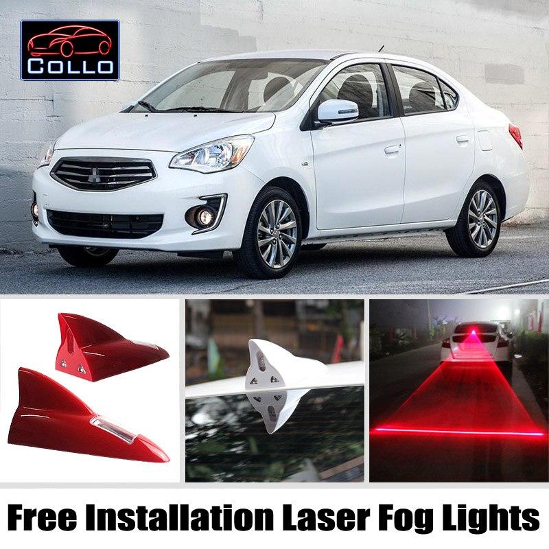 For Mitsubishi Mirage G4 / Attrage Sedan / Solar Energy Shark Fin Laser Fog Lamp / Free Installation Car LED Warning Lights<br><br>Aliexpress