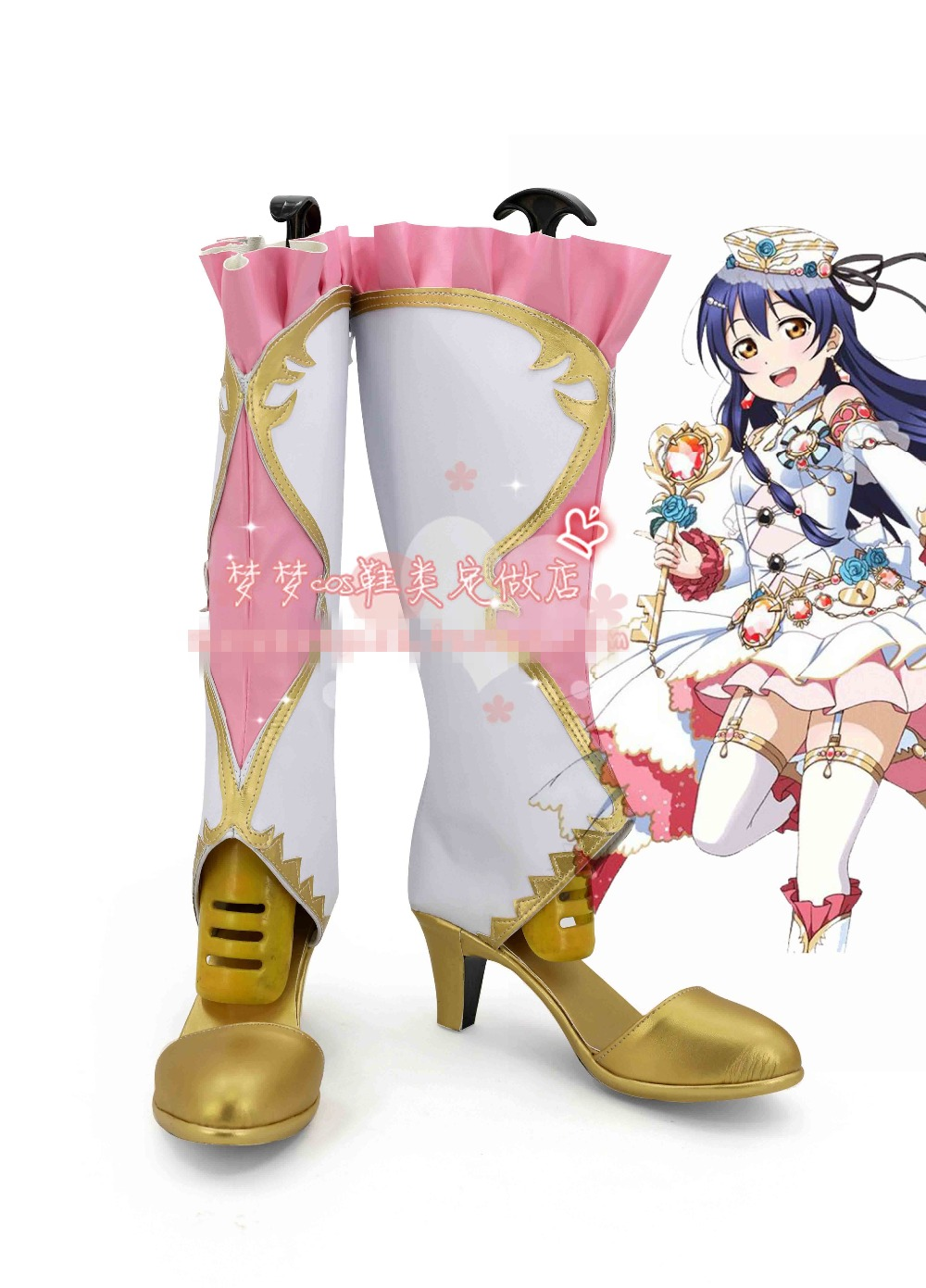 Free Shipping Lovelive! Birthstone Awaken New Card SJ Umi Cosplay Shoes Halloween Boots Custom-made