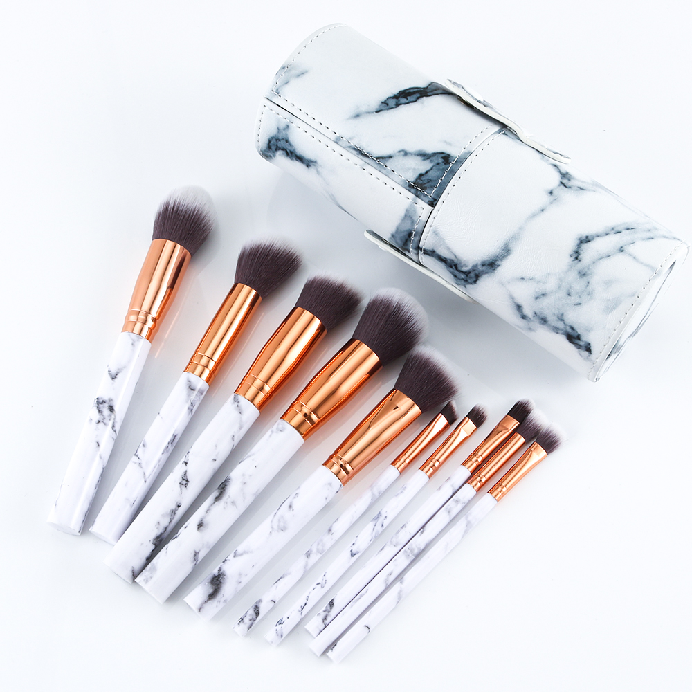 Marble makeup brushes  (12)