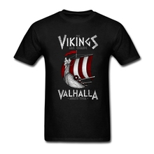 Custom Man  Short Sleeve T-Shirt Natural Cotton Big Size T-Shirts Vikings are coming Youth T Shirts Funny