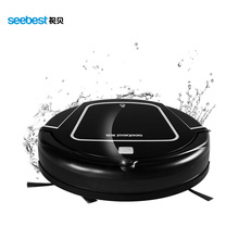Clean Robot Aspirator with Wet/Dry Mop Water Tank, Time Schedule, Auto Recharge Smart Cleaner, Seebest D730 MOMO 2.0