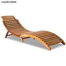 iKayaa Garden Chair folding acacia wood deck chair ES Stock