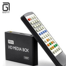 Hot Boxchip F10 Mini 1080p Advertising Media Player 3D USB SD/MMC Hard Disk Display with Auto Play Loop Resume Function(China)