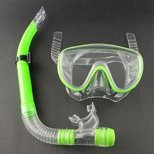 Swimming Scuba Anti-Fog Goggles Mask Dive Under water Diving Glasses Submersible w/ Dry Snorkel Set 3 Colors Silicon