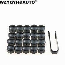 20pcs/lot 17mm Car Wheel Lug Nut Center Cover Caps + Removal Tool For Volkswagen VW Golf Jetta Passat Audi A4 A3 Q5 Car styling(China)