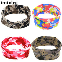 Imixlot 1PC Cheap New Cotton Winter Headband for Women Girls Hair Fashion Turban Camouflage Printing Headwear Headwrap Hairband