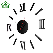 Modern Luxury 3D Mirror Stickers DIY Wall Clock Living Room Home Decoration Decal Art Design Wall Acrylic Clocks 40*40cm