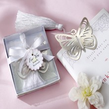 (DHL,UPS,Fedex)FREE SHIPPING+50pcs/Lot+Wedding Party Favors Book Lovers Collection Butterfly Bookmarks Baby Baptism Gift