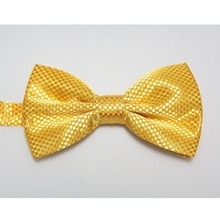 neck tie gold Yellow bowties men bow ties knots plaid cravat solid color ascot(China)
