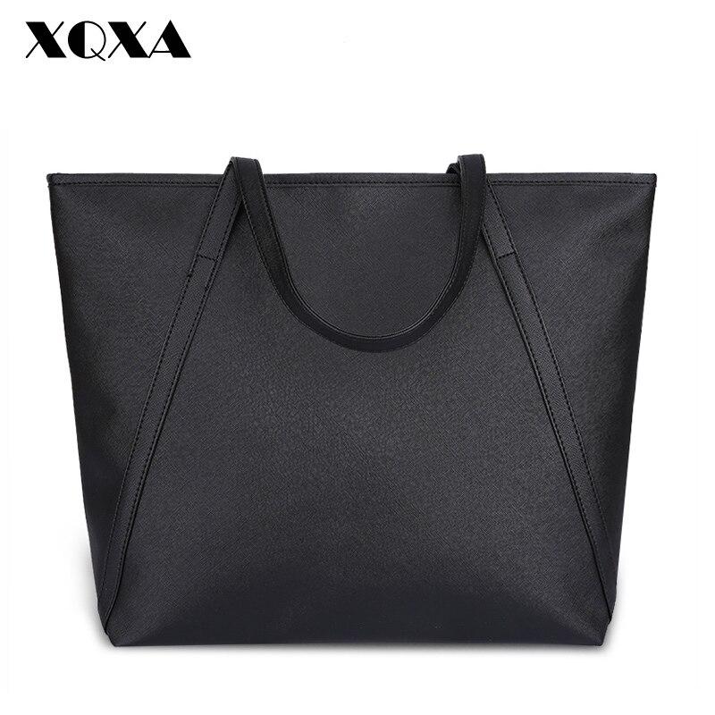 XQXA New Simple Fashion Famous Designers Brand Handbags Large Women Bags SolidPU LEATHER BAGS/Shoulder Tote Bags Big<br><br>Aliexpress