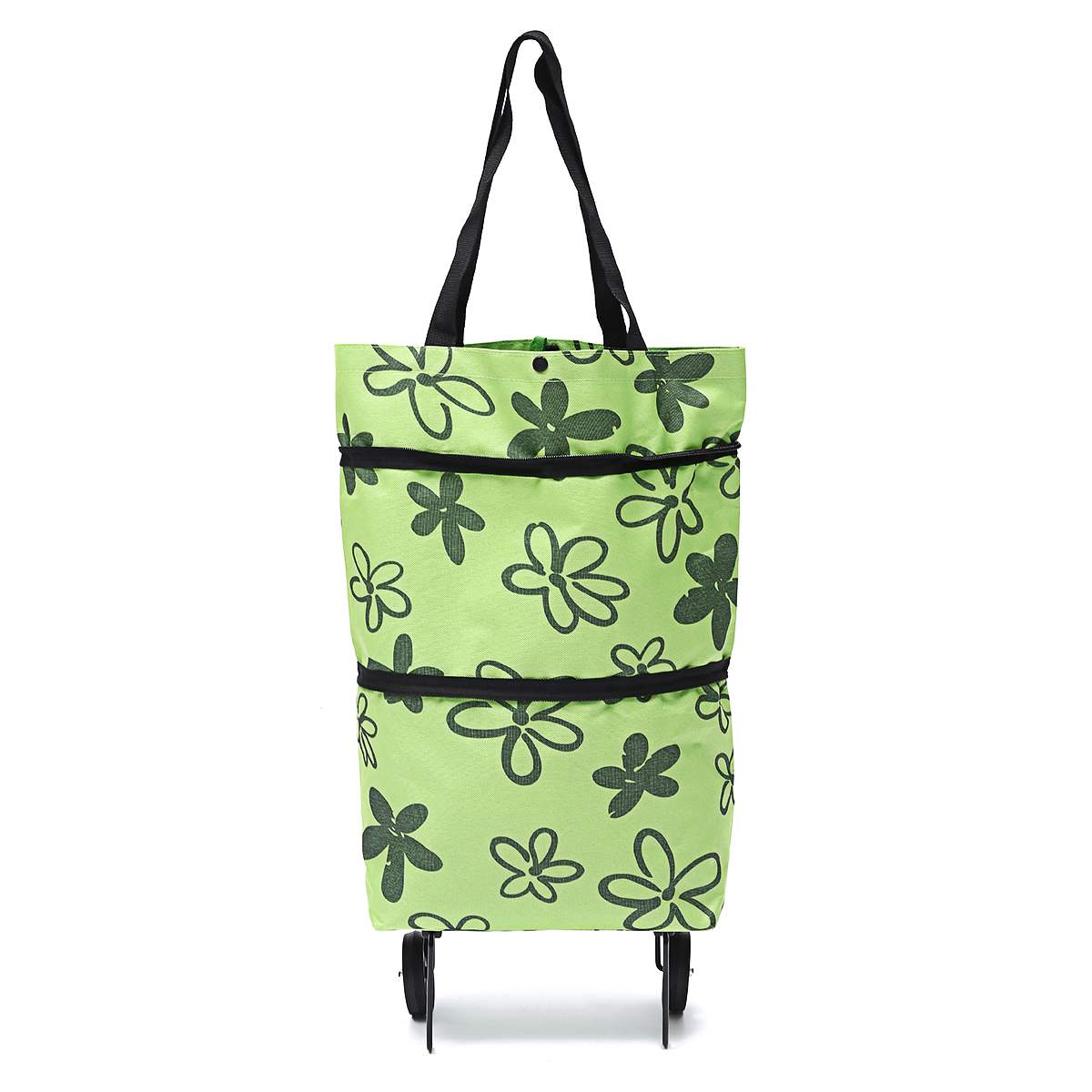 SHOPPING CART BAG TROLLEY 3 COLOURS FOLDING BAG 2 WHEELS EASY MARKETS OUTDOORS