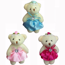 Bulk 11cm 10pcs Lovely Plush Teddy Bear With Double-Dress Pendants Soft