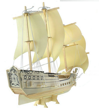 BOHS Sailing Ship Cothenburg Model Wooden Diy 3D Jigsaw Puzzle Child Toy(China)