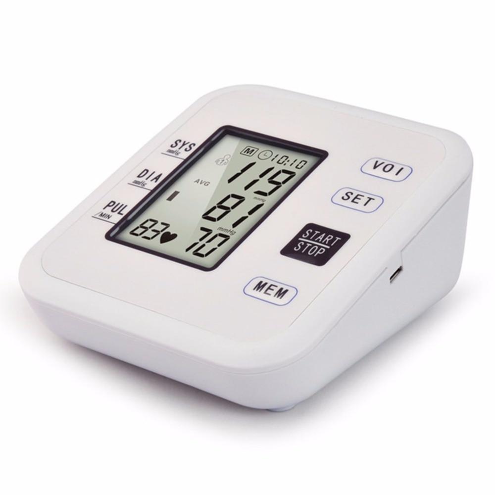 Arm Type Rechargeable Voice Tonometer Smart Digital Pulse Blood Pressure Monitor Health Care Household Sphygmomanometer 13