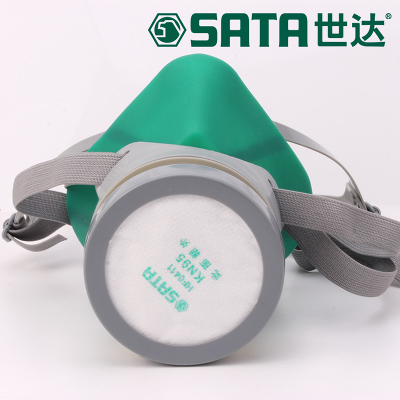 The new 2017 gas mask paint dust organic gas respirator mask silicone material gray chemical respirator mask<br><br>Aliexpress