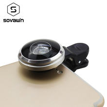 Sovawin Fisheye Lens Super Wide Angle HD Metal 235 Degree Fish Eye Universal Mobile Phone Clip-on Lenses Camera for Cell Phone
