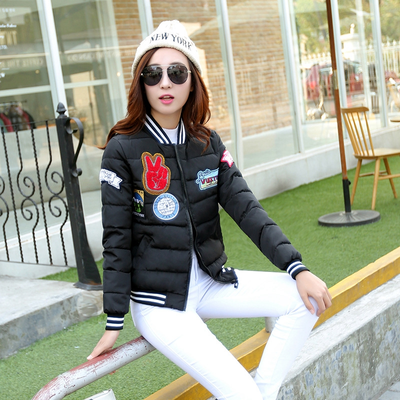 Korean Hot New 2017 Spring Winter Casual Brand Women Down Coat Outwear Cotton Padded Warm Parka Female Short Jacket Bomber P908Одежда и ак�е��уары<br><br><br>Aliexpress