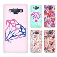 Diamonds Pink Clear Transparent Cell Phone Case Cover for Samsung Galaxy A3 A5 A7 A8 A9 2016 2017