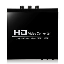 2017 New Digital HD AV + HDMI TO HDMI Video Converter For STB DVD PS2 PS3 PSP