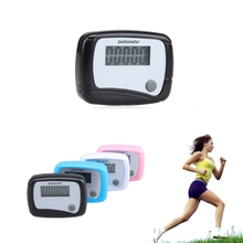 LCD Pedometer Run Walk Walking Calorie Counter Step Counter Light Weight Plastic Running Pedometer with Hanging Clip