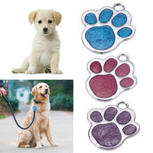 Glitter Custom Pet Dog Tag Personalized Engraved Feet Card Dogs Cat ID Tags Collar Pendants Pet Dog Accessories(China)