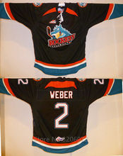 Kelowna Rockets #2 Shea Weber Black Hockey Jersey Embroidery Stitched Customize any number and name Jerseys(China)