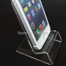 30pcs/lot DHL fast delivery Acrylic Cell phone mobile phone Display Stands Holder stand for 6 inch iphone samsung HTC