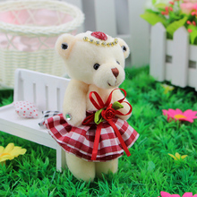 12pcs Baby Plush Toys Teddy Bear Flower Bouquets Mini Soft Design Wedding Home Decoration Toys christmas Valentine's day gifts(China)