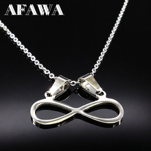 Stainless Steel Chain Necklace Choker Women Jewellery Fashion Silver Color Necklaces For Women Best Friend collares joya N167232