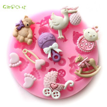 1 pc small Baby Party Silicone Cake Mold Frozen Cake Chocolate Soap Craft Mold Milling Cutter DIY Bakery Tools Silicone Mold
