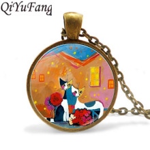 Buy QiYuFang Rosina Wachtmeister Cats Pendant Necklace Gift Men Necklaces Women High Jewelry Crystal Chain for $1.18 in AliExpress store