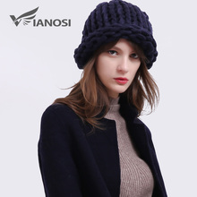 VIANOSI knitting hats fashion design hats women skullies beanies Warm hat autumn cap winter hat female HT002(China)