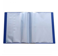 3pcs/lot clear transparent plastic file storage folder blue for documents pocket display book a4 office supplies