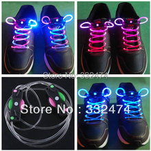 2017 New Silicone Shoelaces Neon Flash shoe lace colorful luminous led shoelace for skating shoes party shoes